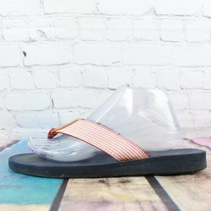 LL BEAN Maine Isle Thong Flip Flop Sandals Size 9